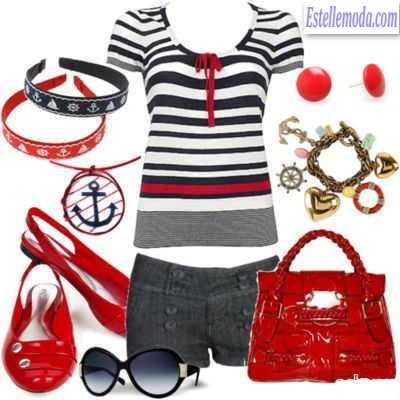 Женская одежда морской стиль купить