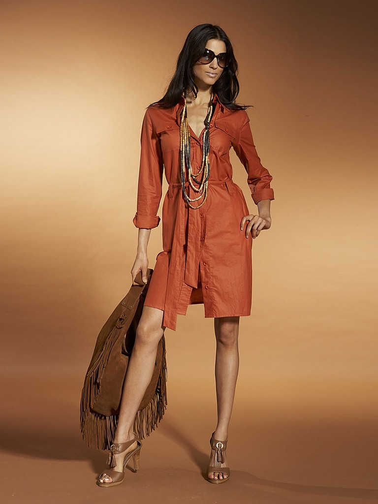 Длинные платья в стиле сафари