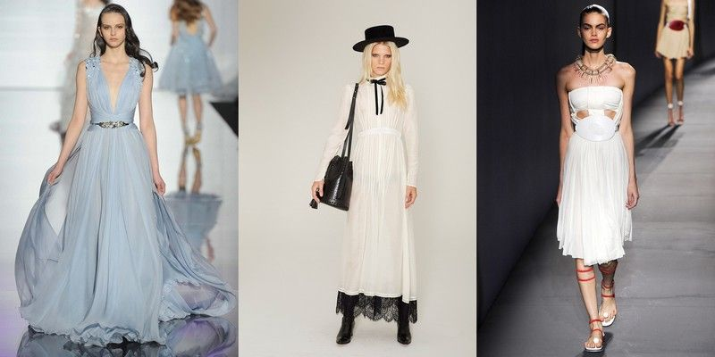 модные платья весна лето 2015 фото с показов