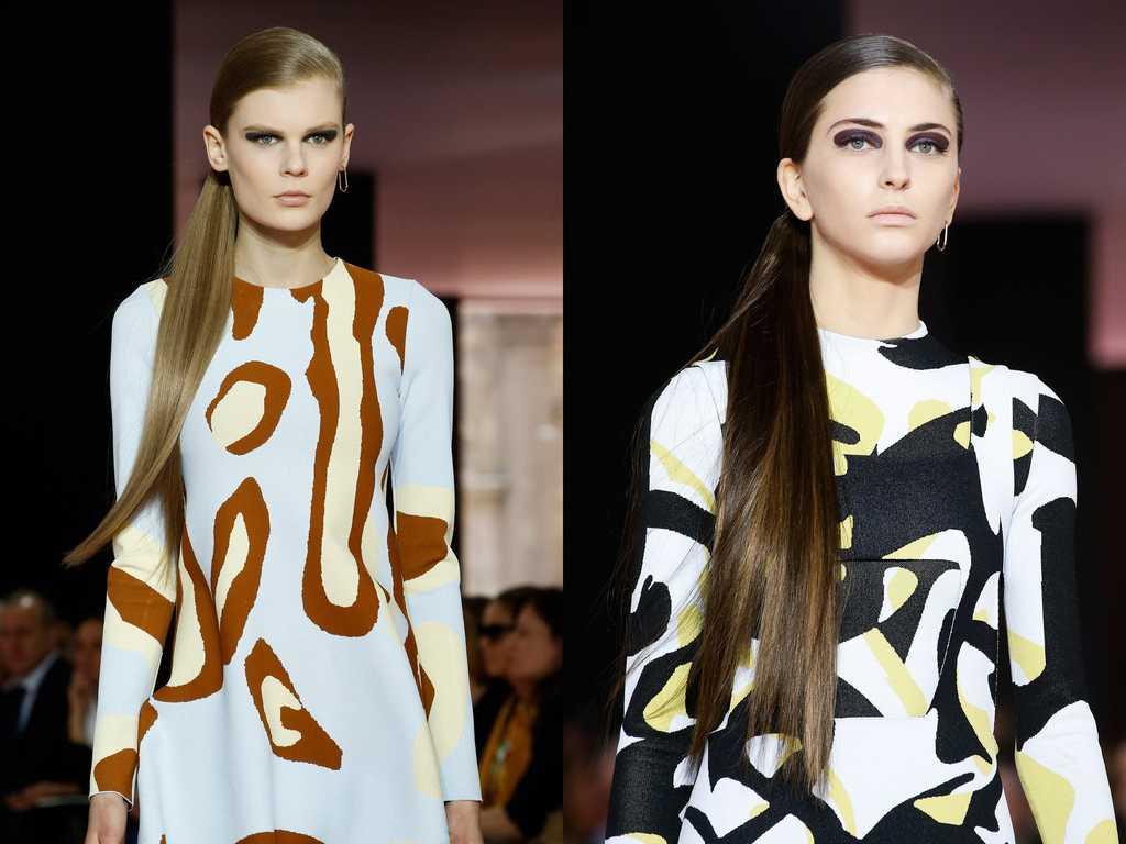 платья с абстрактным принтом