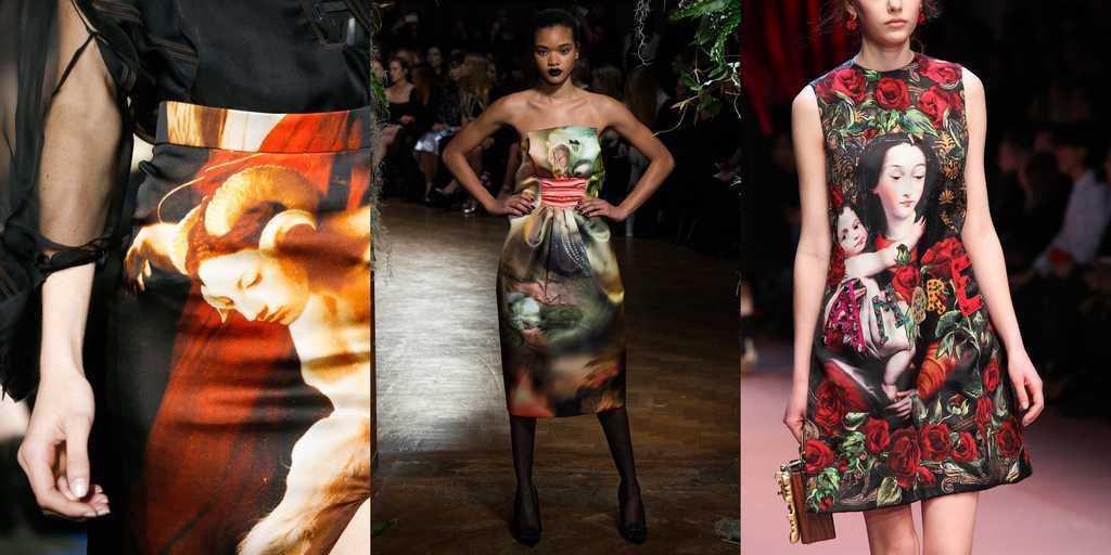 живописные принты - модная тенденция осени 2019