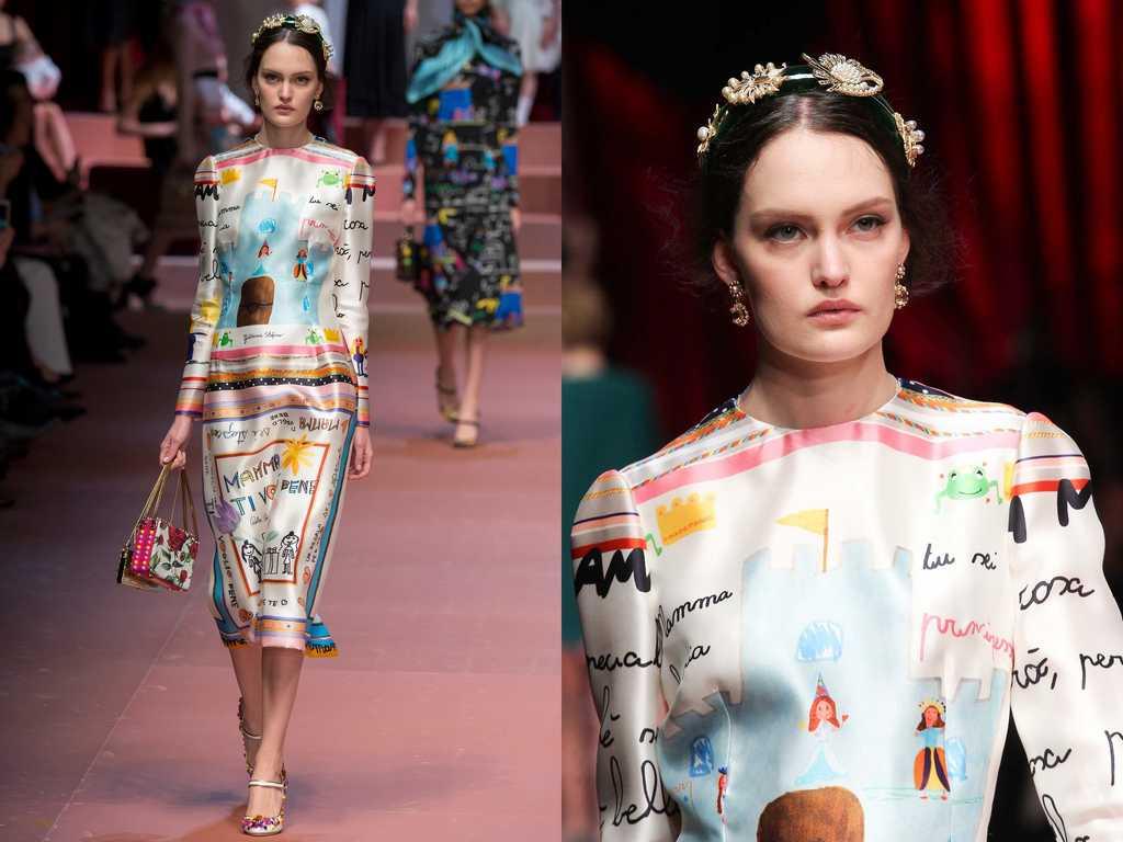 платья Dolce & Gabbana с детскими рисунками