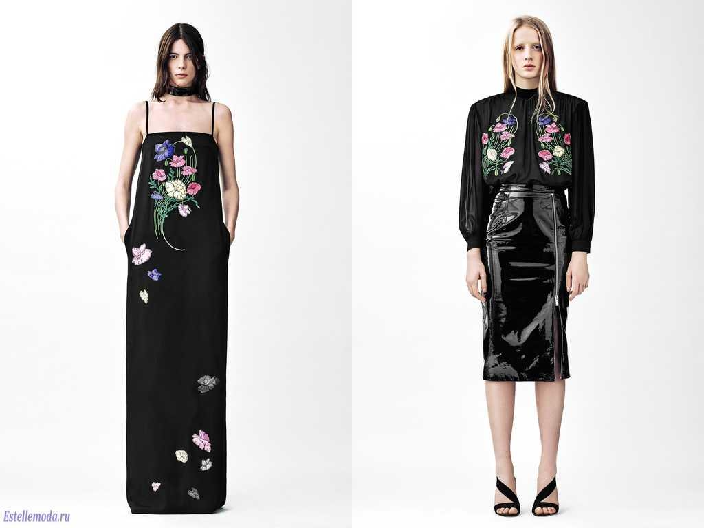 Яркие цветы на черном фоне - тренд 2019 года
