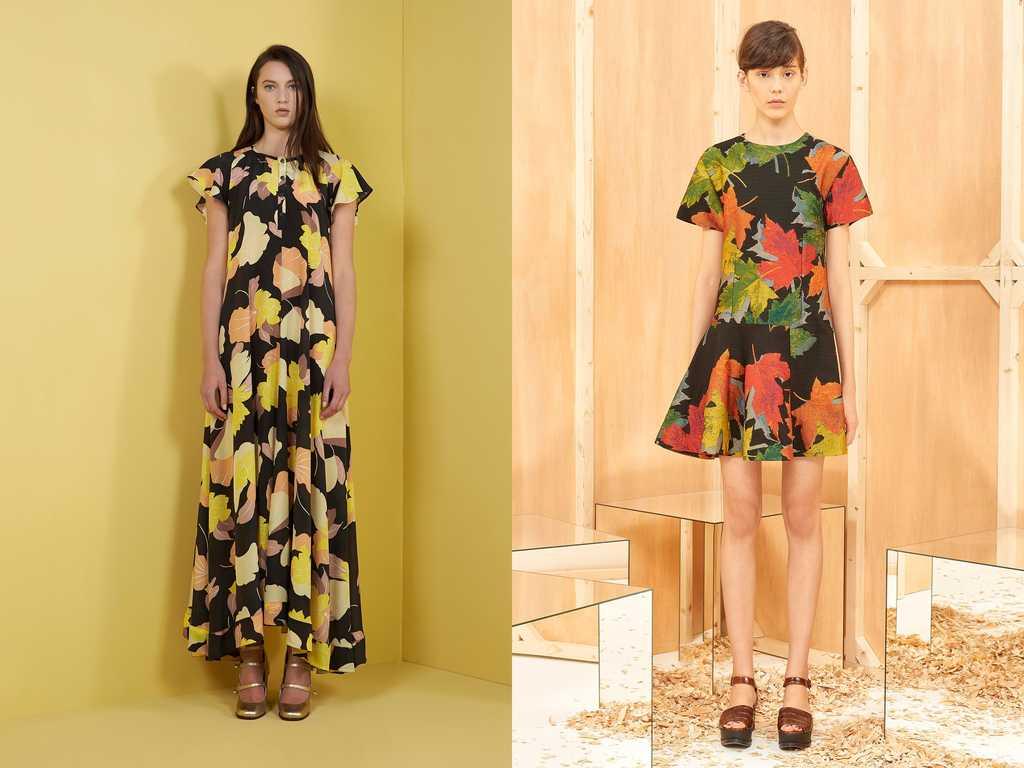 платья с ярким принтом