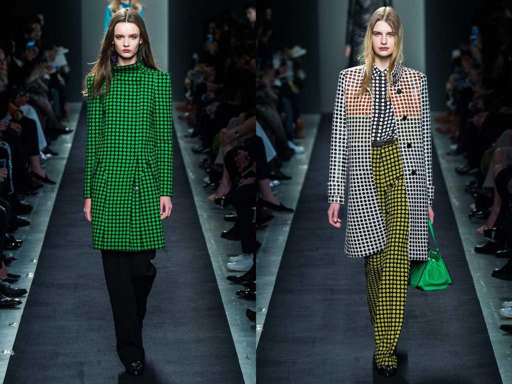 Пальто в горошек - модные в 2019 году