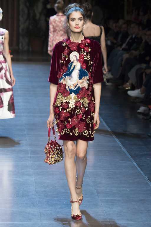Платья Dolce & Gabbana весна-лето 2016 фото