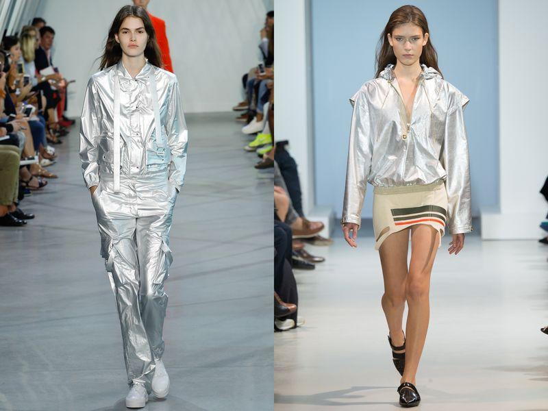 модные блестящие ткани, тенденции 2019, фото