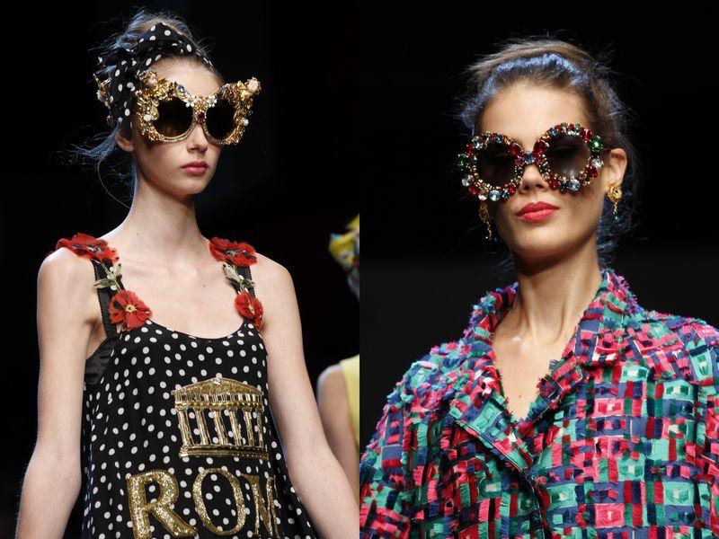 модные солнечные женские очки Dolce&Gabbana 2016
