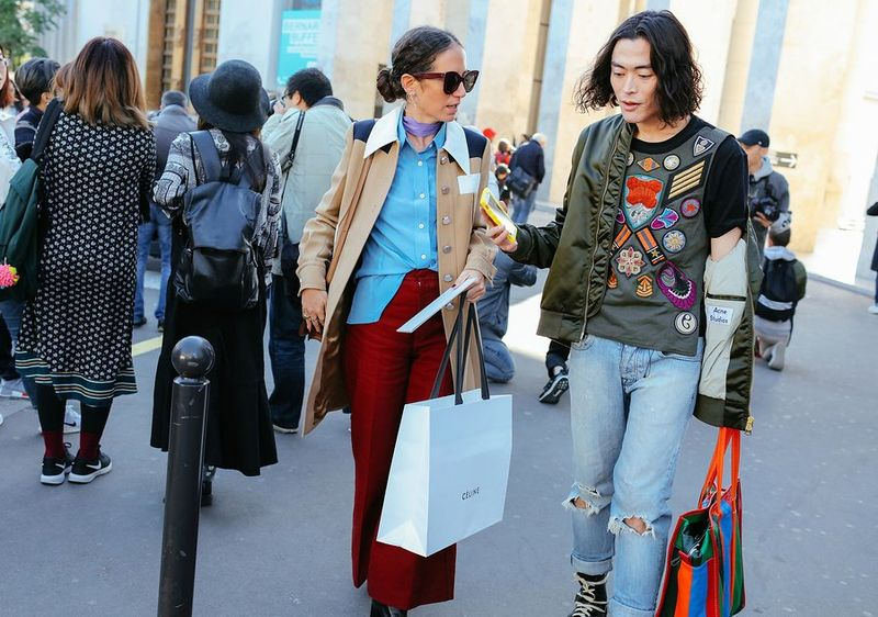 уличная мода парижа 2017