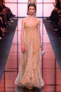 Коллекция вечерних платьев Джорджио Армани в Париже