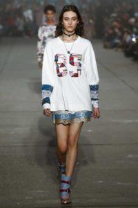 Показ американского Дома Tommy x Gigi на Неделе моды в Нью-Йорке