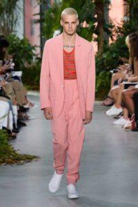 Показ американского бренда Лакоста на Неделе моды в Нью-Йорке