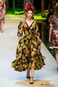 Показ итальянского Дома Dolce Gabbana на Неделе моды в Милане