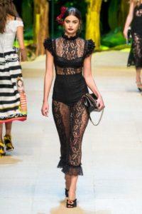 Показ итальянского бренда Dolce Gabbana на Неделе моды в Милане