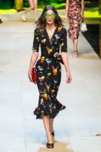 Коллекция платьев Dolce & Gabbana в Милане