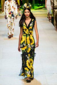 Коллекция платьев Дольче Габбана в Милане