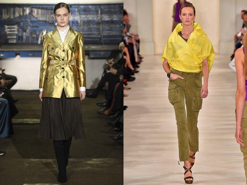 Сочные цвета в женской одежде сафари