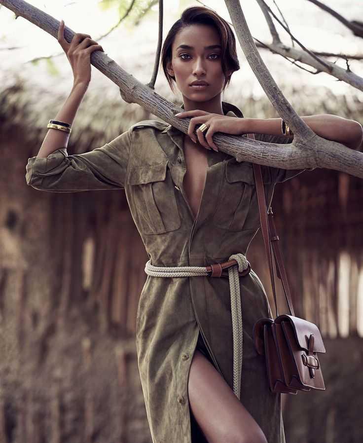 Anais Mali в фотосессии в стиле сафари