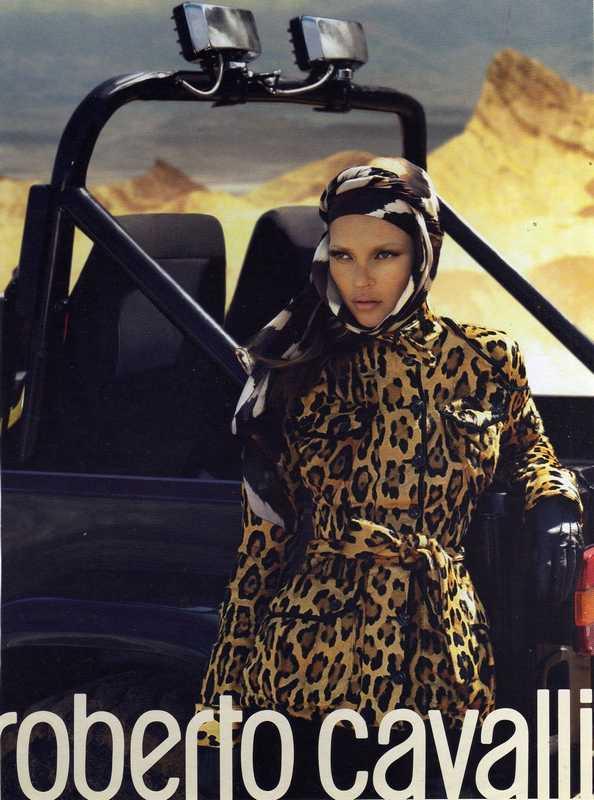 Кейт Мосс в фотосессии Roberto Cavalli в стиле сафари