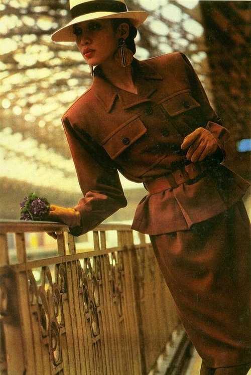 Юбочный костюм Yves Saint Laurent, середина 80х