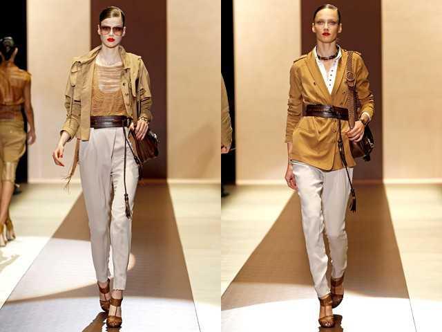 Одежда сафари от Gucci весна-лето 2011