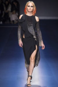 Амбер Валлетта на показе Versace