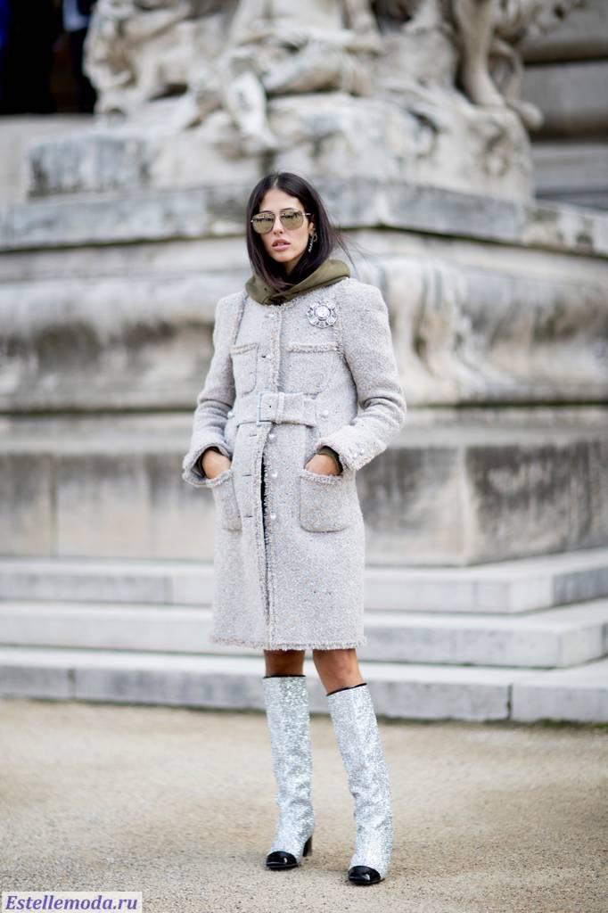 пальто в стиле шанель, 2018