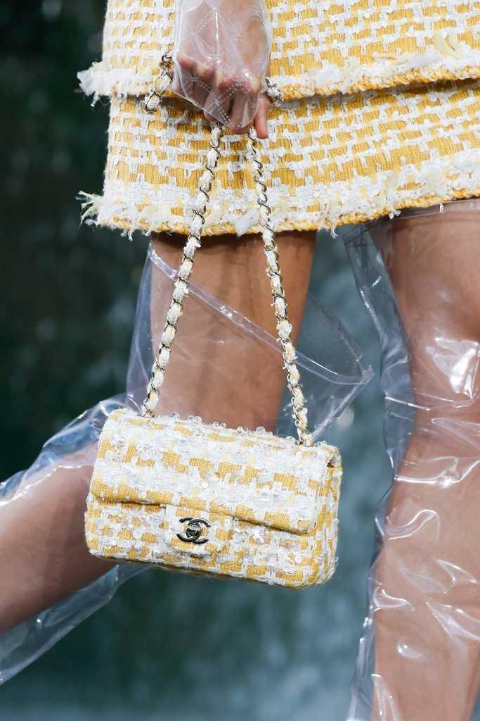 сумки шанель желтая