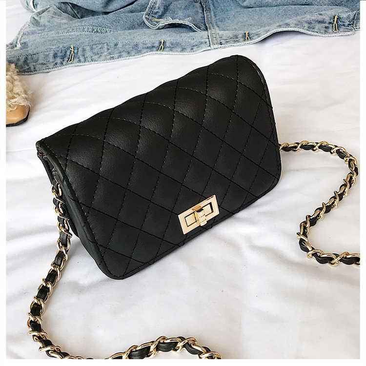 Черная стеганая сумка под Chanel. 4 цвета на выбор.