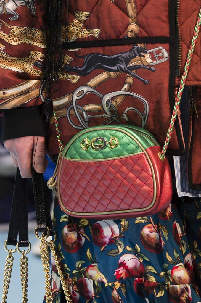 стеганая сумка Гуччи через плечо