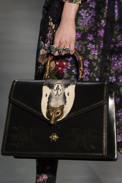 черная сумка Гуччи с головой лисицы