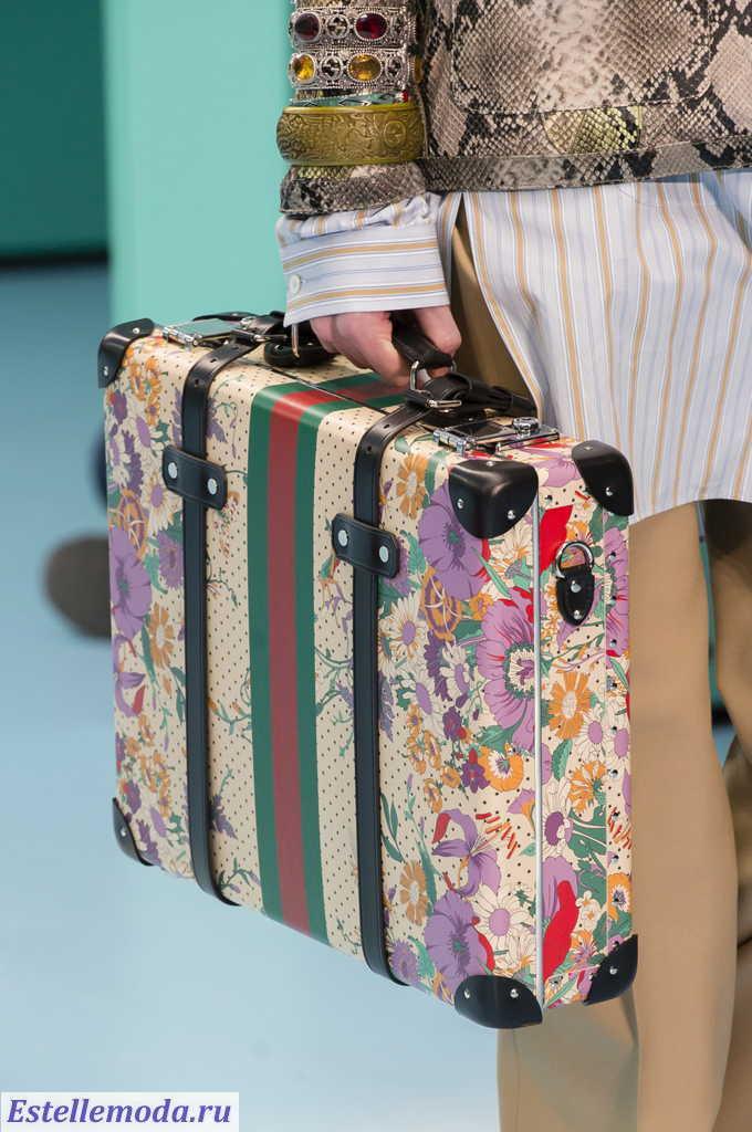 дорожная сумка Гуччи с растительным принтом