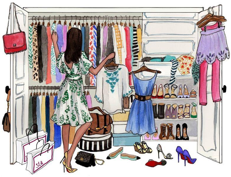 разбор гардероба со стилистом, фото