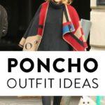 Как и с чем носить пончо (70 фото) 2019: варианты ношения пончо, стильные образы