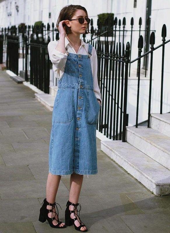 модный джинсовый сарафан лето 2021