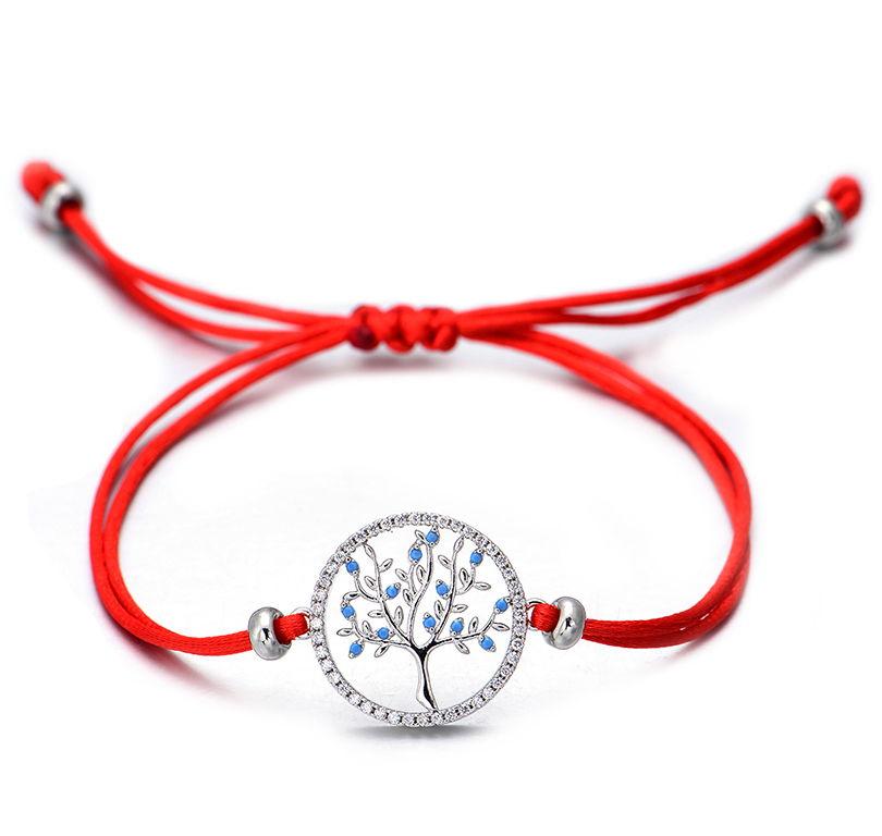 красный браслет-нить Дерево Жизни