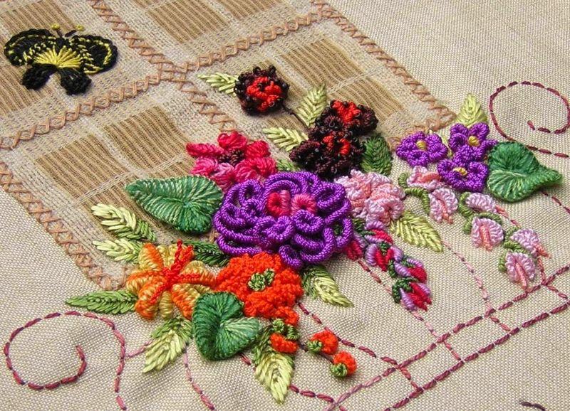 Виды техник вышивания